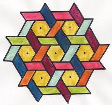 rangoli patterns using mathematical shapes this is an indian rangoli art design but could be inspiration for a
