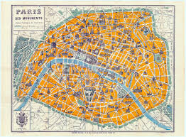 Paris Wall Murals Map Of Paris 1926 Wallpaper Wall Mural Wallsauce Usa