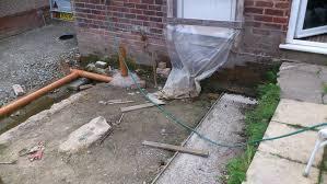 rear extension porch u0026 garden wall bricklaying job in