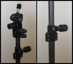 3d printed camera mount using old aluminum curtain rods for tripod