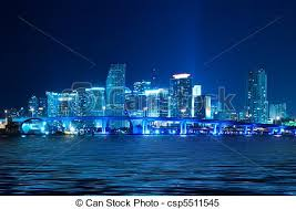 imagenes miami de noche horizonte de miami noche hermoso miami agua contorno
