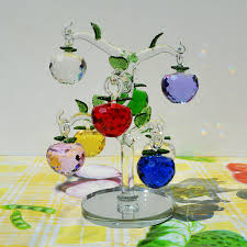 shop lucky glass apple tree with 8 pcs of faceted
