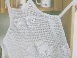 tablier de cuisine patron gratuit crochet tablier de cuisine tout blanc tutoriel gratuit par