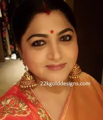 big jhumka gold earrings kushboo archives 22kgolddesigns