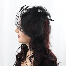 funeral veil always a womens fascinator hat hair clip for derby party