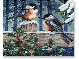 winter birds cross stitch kit needlework kits needlework