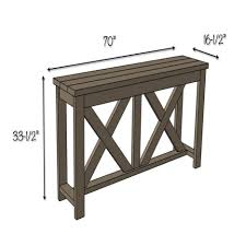 X Console Table Console Tables Marvelous Diy X Brace Console Table Free Plans
