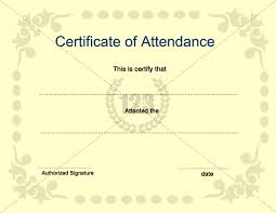best photos of template of certificate of attendance attendance
