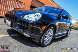 Porsche Cayenne Lifted - quick snap porsche cayenne on bc coilovers gets low
