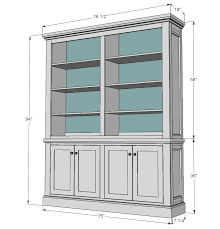 Free Built In Bookcase Woodworking Plans by Ana White Shanty Hutch Diy Projects