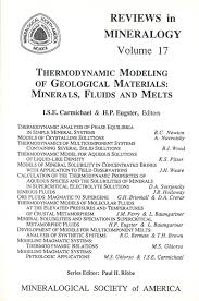Mineralogical Society Of America Thermodynamic Modeling Of