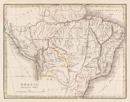 Old Map South America by Old Map Of Brazil Bolivia U0026 Peru 1870 04 Douglas