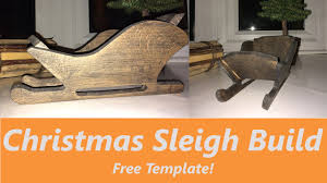 how to make a wooden sleigh decoration