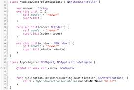 coder class init to winit building success with class initializers