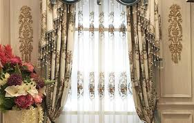 embroidered country style blackout curtain for living room for