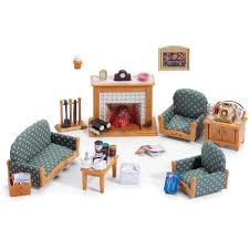 Living Room Set by Calico Critters Deluxe Living Room Set Walmart Com