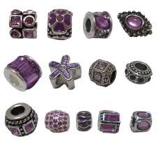 pandora style bead necklace images Romantic purple rhinestones n8 european style beads charms for jpg