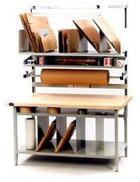 packing table with shelves ergonomic packaging workbenches