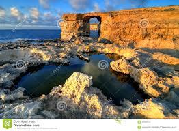 azure window on gozo malta islands hdr stock image image 22792911