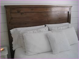 Barn Wood Headboard Peculiar Bedroom Interior Idea 1024x1365 And Square Benches Along