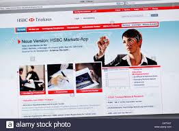 hsbc si e hsbc bank germany website banking stock photo 50950112 alamy