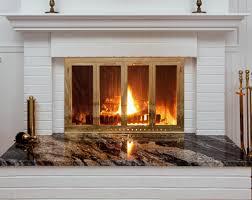 fireplace screen with glass doors fireplace glass doors and screens custom handcrafted fireplace doors