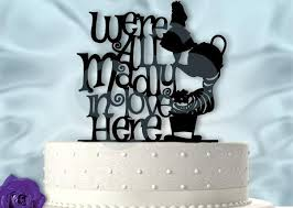 a and we re cake topper in inspired we re all madly in here wedding