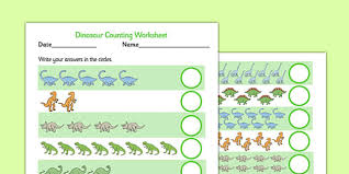 dinosaurs maths primary resources t rex number page 1