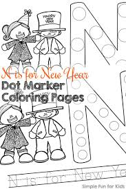 n is for new year dot marker coloring pages simple fun for kids