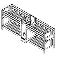 Maxtrix ExcellentGiga High Quadruple Bunk Bed With Stairs H - Quadruple bunk beds