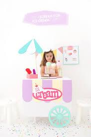 box cart diy cardboard box ice cream cart damask love