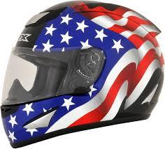 Rebel Flag Gear Afx Unisex Black Motorcycle American Flag Full Face Riding Street