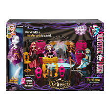 monster high table and chair set monster high 13 wishes party lounge and spectra vondergeist doll