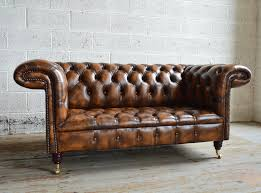 Chesterfields Sofa Beautiful Brown Leather Chesterfield Sofa 71 In Home Kitchen