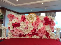 wedding backdrop flowers paper backdrop paper flower paper wedding paper flower thailand