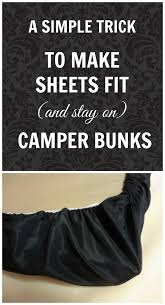 Fitted Camper Bunk Sheets - Rv bunk bed mattress