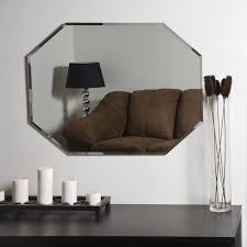decor wonderland frameless octagon beveled mirror beyond stores