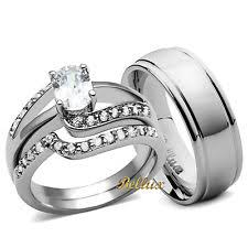 wedding rings his and hers matching sets his and hers matching wedding bands ebay