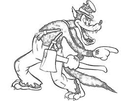coloring page of wolf big bad wolf coloring pages getcoloringpages com