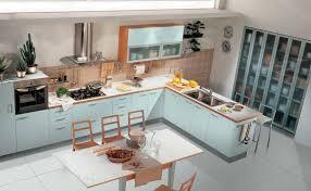interior exterior plan simple light blue kitchen interior
