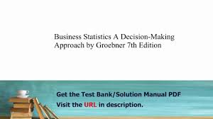practice test bank for business statistics a decision making