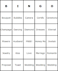 wedding words for bingo bridal shower bingo cards bingo card generator