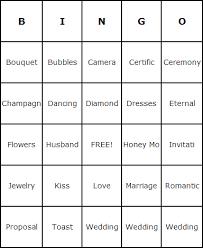 blank bingo cards bridal shower