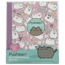 buy pusheen mini travel colouring book set john lewis