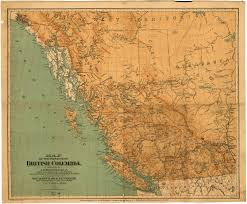 Map Of Vancouver Canada Map Of The Province Of British Columbia City Of Vancouver Archives