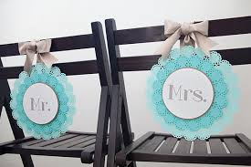 Wedding Chair Signs Diy Mr U0026 Mrs Chair Sign Something Turquoise