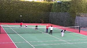 tennis warm up game for little kids snowballs with karl
