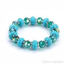 turquoise beads bracelet images 2018 handmade beaded bracelet stretch women crystal beads jpg