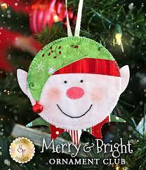 merry bright ornament club pre fused laser cut