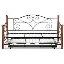 amazon com caroline complete metal daybed with link spring and